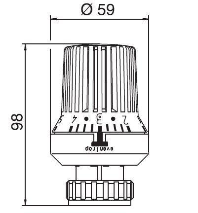 Oventrop Thermostatkopf Uni XD, weiß