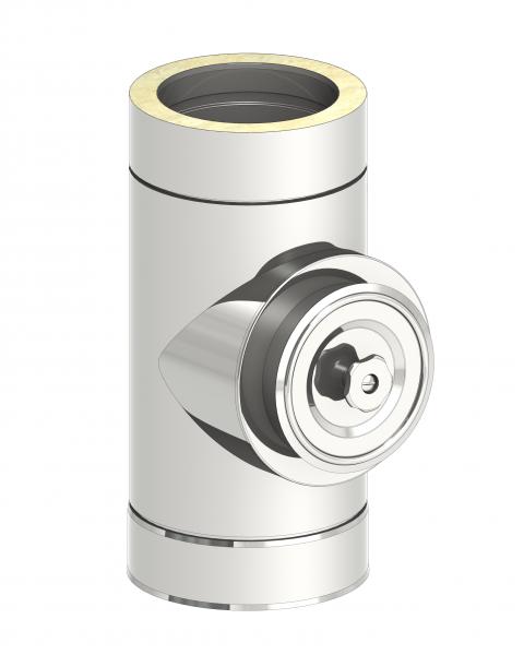 Schornstein - Reinigungselement / rund mit Deckel