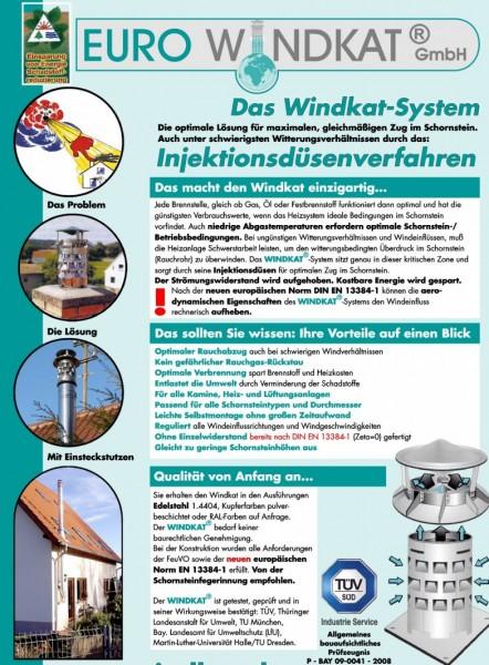 Euro Windkat Schornsteinaufsatz nach dem Injektionsdüsenverfahren
