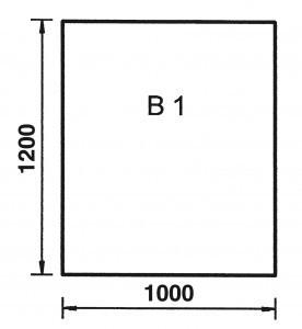 Bodenplatte Rechteck B1