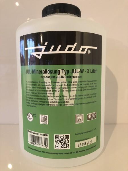 Judo JUL-W Minerallösung für Härtegrad 1+2, Flasche 6 Liter grün, 8600025