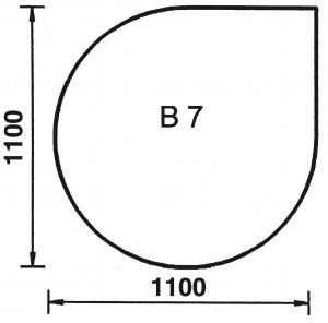 Bodenplatte Tropfen B7