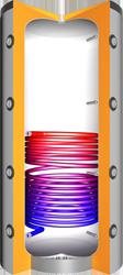VMS-Therm Hochleistung`s - Pufferspeicher mit einem Wärmetauscher