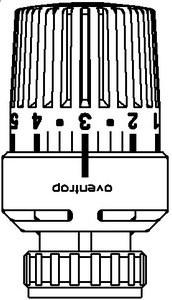 Oventrop Thermostatkopf Uni LD, weiß