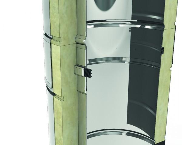 DW 130 3,3 Meter Schornsteinpaket für Bodenmontage-doppelwandig