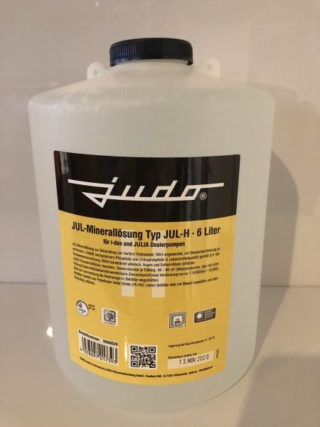 Judo JUL-H Minerallösung für Härtegrad 3, Flasche 6 Liter gelb, 8600028,