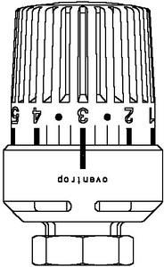 Oventrop Thermostatkopf Uni LH, weiß