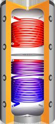 VMS-Therm Hochleistungs-Pufferspeicher JPSRR mit zwei Wärmetauscher