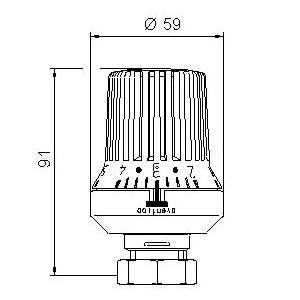 Oventrop Thermostatkopf Uni XH, weiß