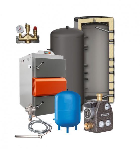 Holzvergaser HVS 16 Lambda Control-Komplettset mit 1x 1000 Ltr Puffer