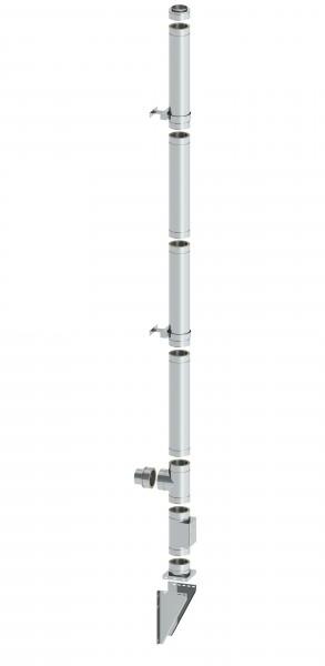 Ø 130 mm - 4,8 m Schornstein Paket doppelwandig - Wandmontage