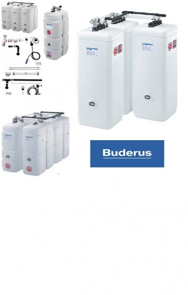 Buderus / Schütz Öltank im Tank 4x 1000 l Kompakt + Zubehörpaket 1A,1B und CDL Aufstellvariante T 20
