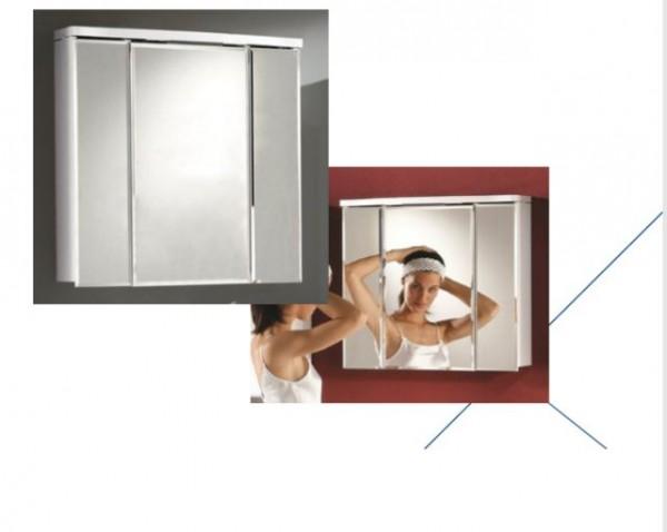 Dansani COMO LED Spiegelschrank 3 Türen, 67cm weiß hochglanz