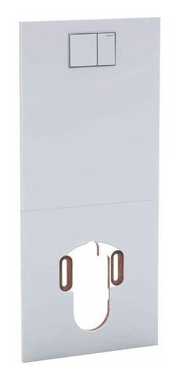 GEBERIT Designplatte für AquaClean Sela/Mera Glas weiß