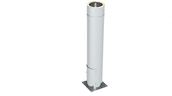 Schornstein - Teleskopstütze 40 - 1115 mm mit Ablauf unten mit Türe