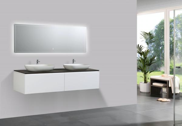 Badmöbel-Set 1500mm Weiß Matt- Sideboard und Aufsatzwaschbecken optional