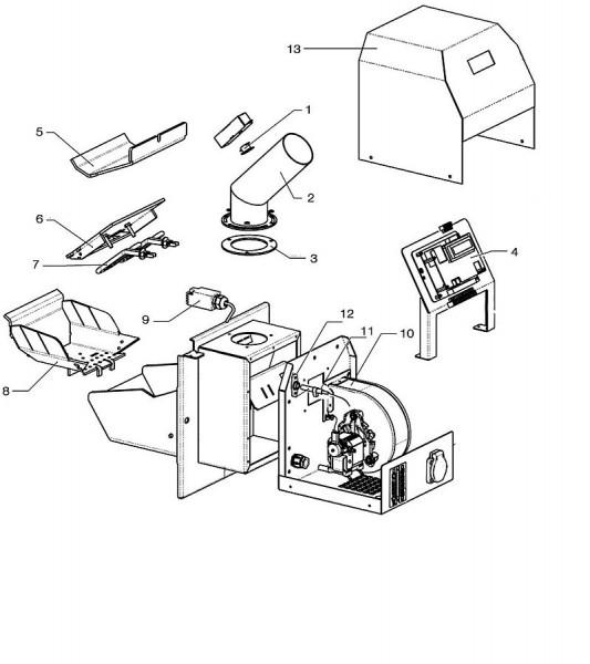 Pelletbrenner Atmos A45 Ersatzteile