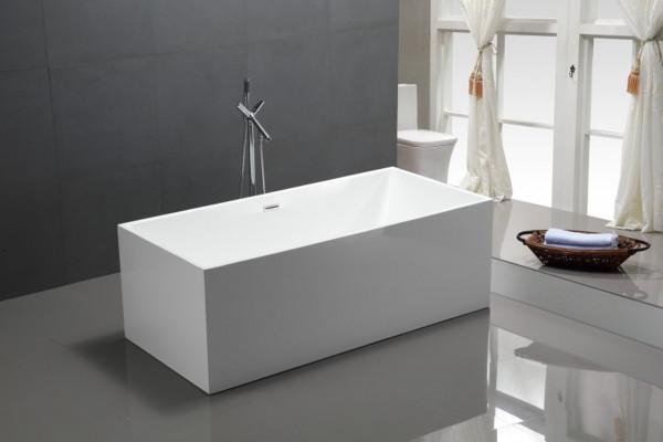 Freistehende Badewanne Sanvocomfort 170x80x60cm inkl. Siphon