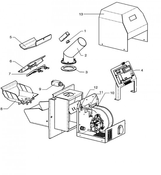 Atmos Ersatzteile für A 25 Pelletbrenner