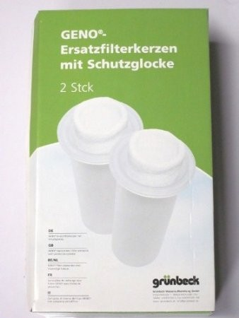 """Grünbeck Geno Ersatzfilterkerze 103008 mit Schutzglocke 80µm FS 1 1/4"""" , FS 1 1/2"""" , S 1 1/4"""" , GN 1"""