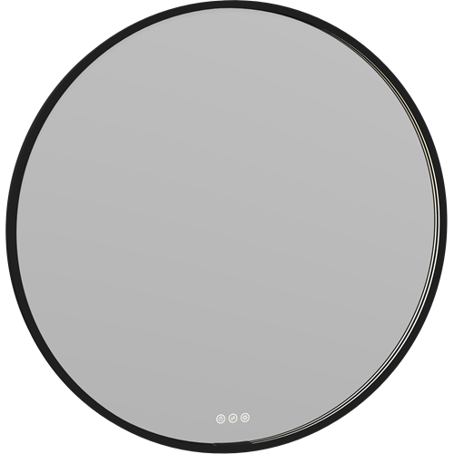 MOON Spiegel mit Rahmen, Licht und Lichtregler RA90