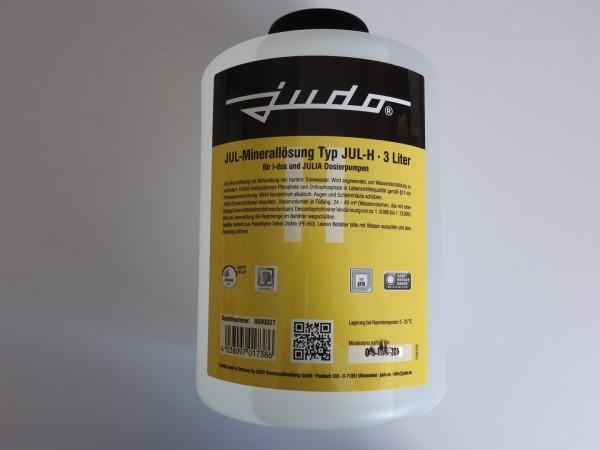 Judo JUL-H Minerallösung für Härtegrad 3, Flasche mit 3 Liter gelb, 8600027