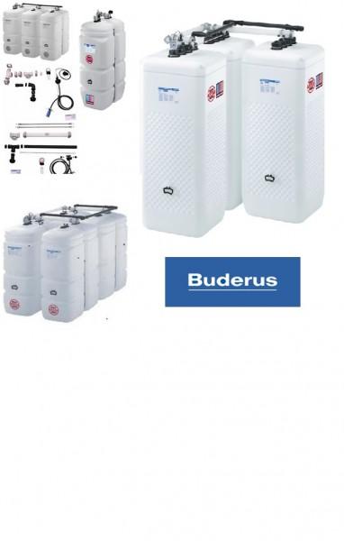 Buderus / Schütz Öltank im Tank 2x 1000 l Kompakt + Zubehörpaket 1A und CDL Aufstellvariante T 201