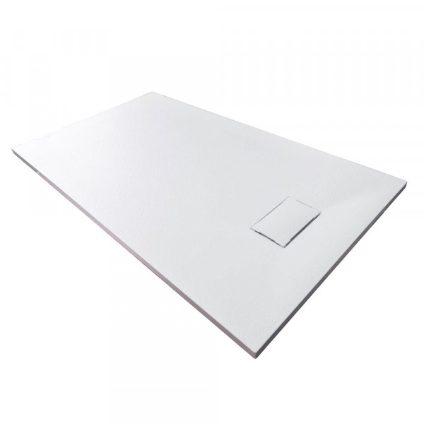 Duschboard rechteckig weiß Größe wählbar inkl. Ablaufgarnitur
