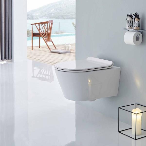 Wand-Hänge WC inkl. Softclose WC Deckel flach