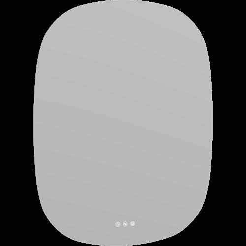 OVAL SPIEGEL 60/80cm MIT LICHTREGLER, OPTIONAL WÄRMEFELD - ZUWAHL LAMPEN