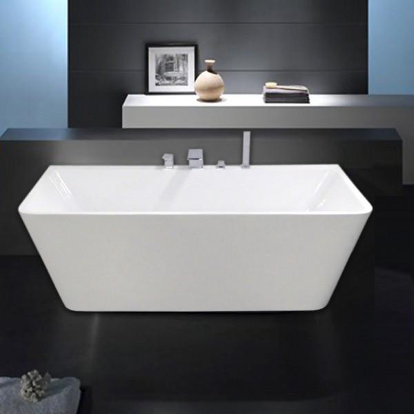Freistehende Badewanne sanvovenezia weiß 170x80cm - Wannenarmatur wählbar