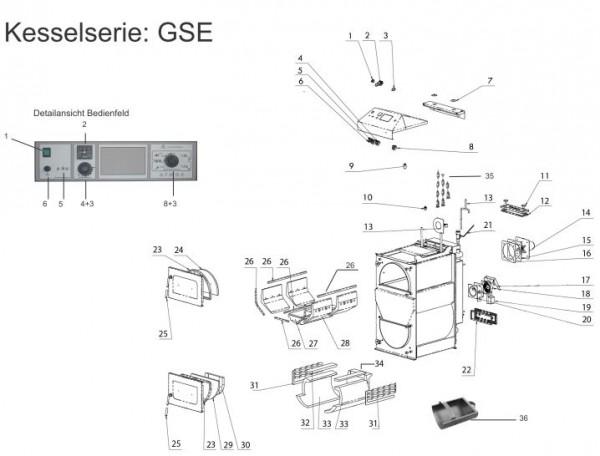 Für Atmos GSE Serie-Dichtung für Gussklappe (Pos. Nr 12)