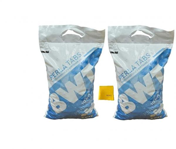 BWT Perla Tabs 20 KG (2x 10KG) inkl. sanvo Mehrzwecktuch