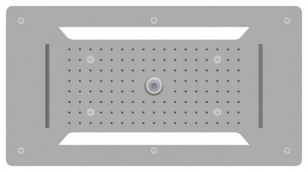 Edelstahl-Deckenbrause superflach 70x38cm-Deckeneinbau